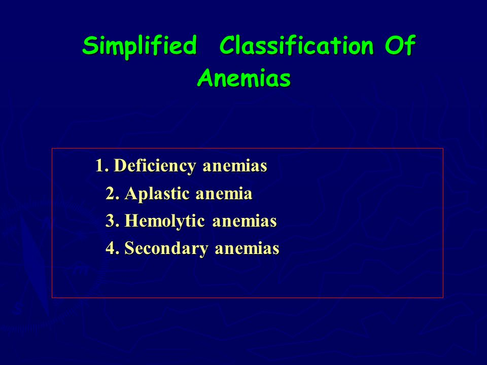 Simplified Classification Of Anemias