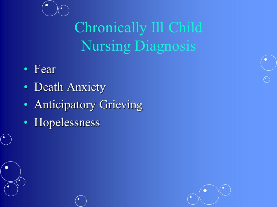 Chronically Ill Child Nursing Diagnosis
