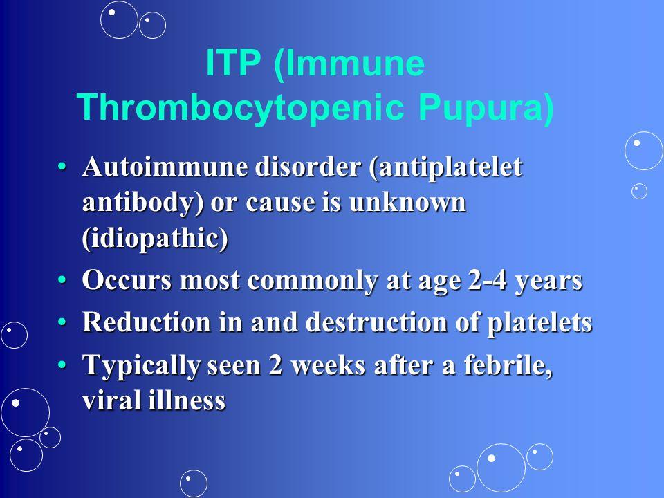 ITP (Immune Thrombocytopenic Pupura)