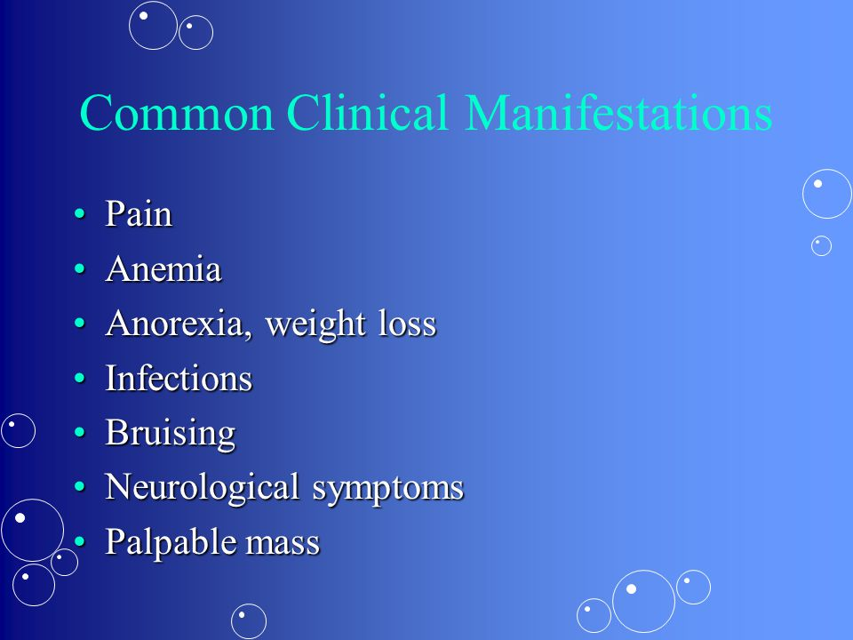 Common Clinical Manifestations