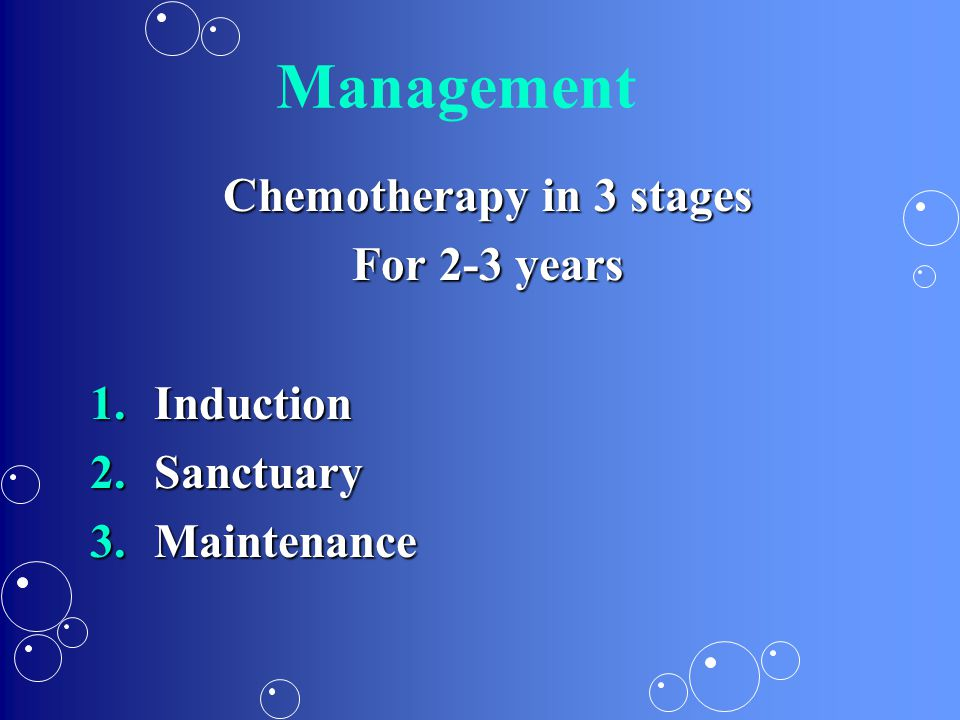 Chemotherapy in 3 stages