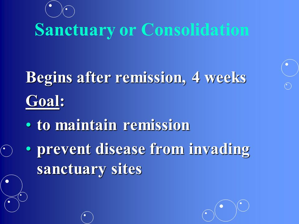 Sanctuary or Consolidation