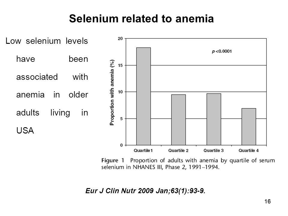 Selenium related to anemia