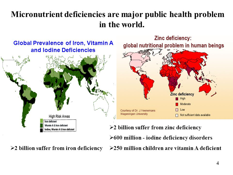 Global Prevalence of Iron, Vitamin A and Iodine Deficiencies
