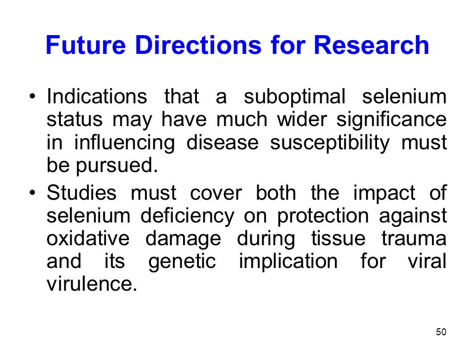 Future Directions for Research