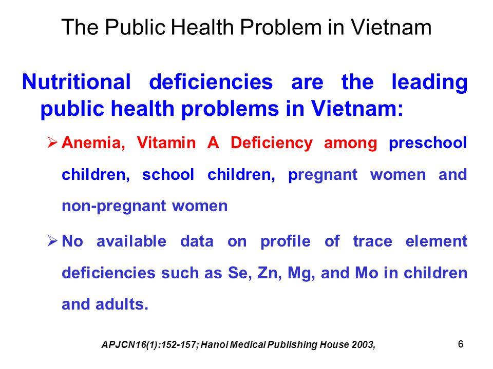 The Public Health Problem in Vietnam