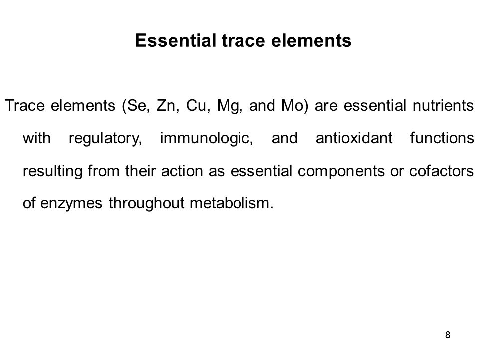 Essential trace elements