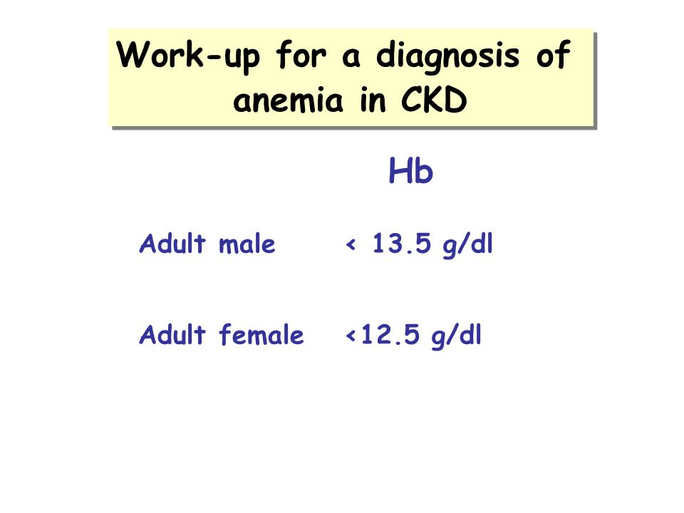 Work-up for a diagnosis of
