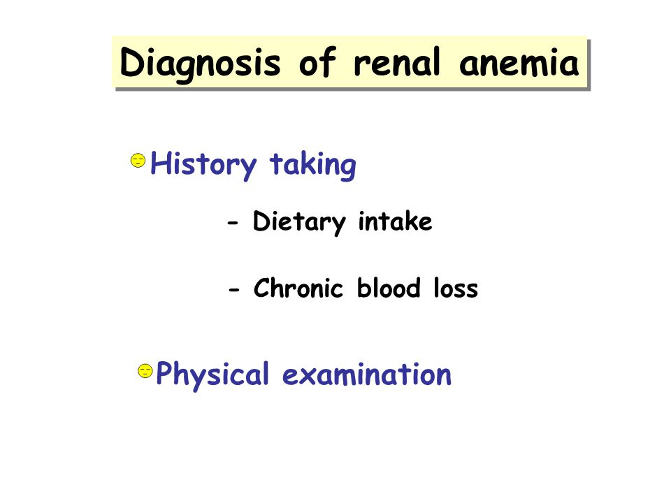 Diagnosis of renal anemia