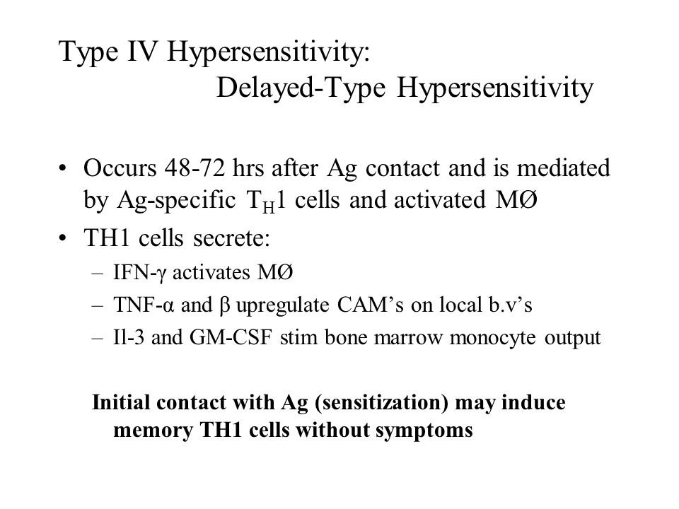 Type IV Hypersensitivity: Delayed-Type Hypersensitivity