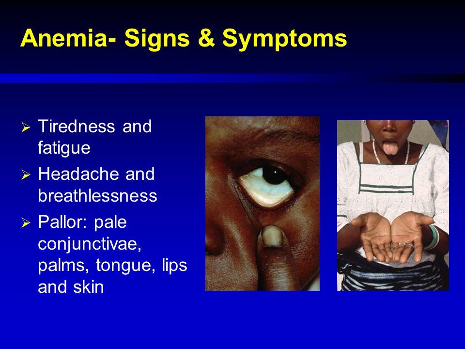 Anemia- Signs & Symptoms
