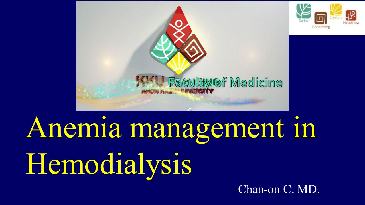 Anemia management in Hemodialysis