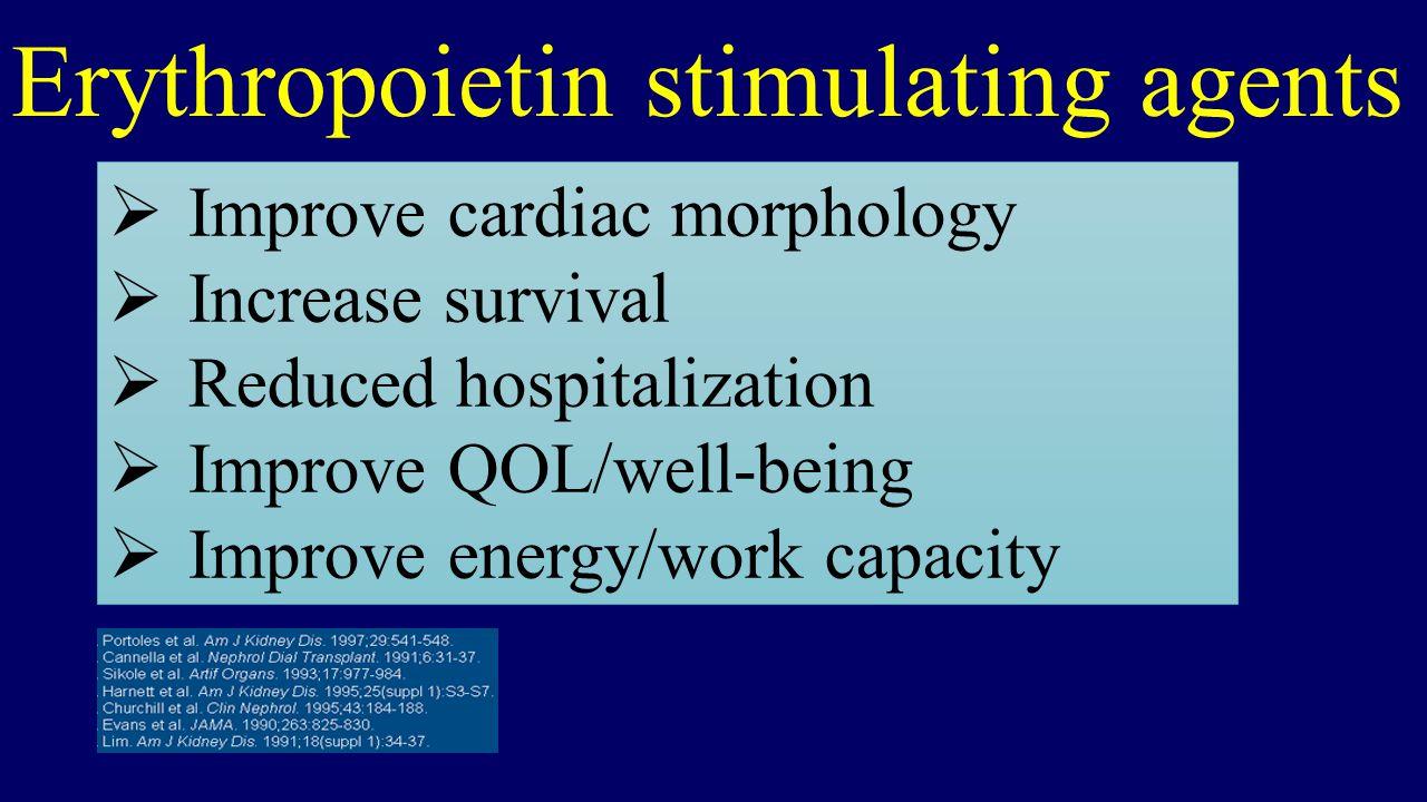 Erythropoietin stimulating agents