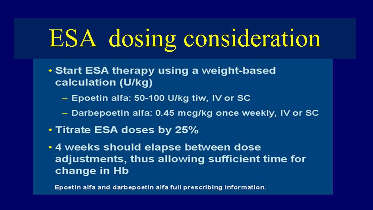 ESA dosing consideration