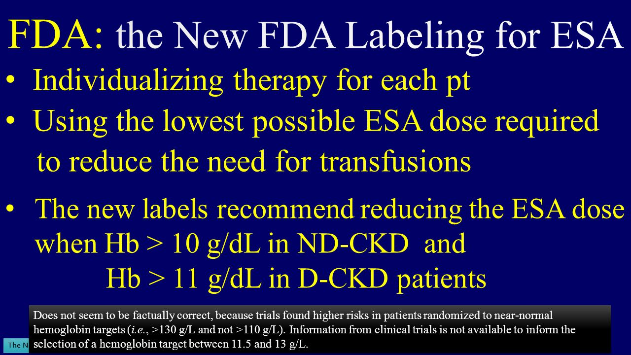 FDA: the New FDA Labeling for ESA