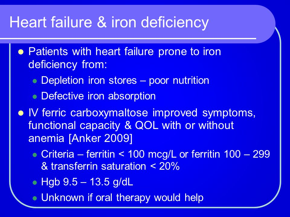 Heart failure & iron deficiency