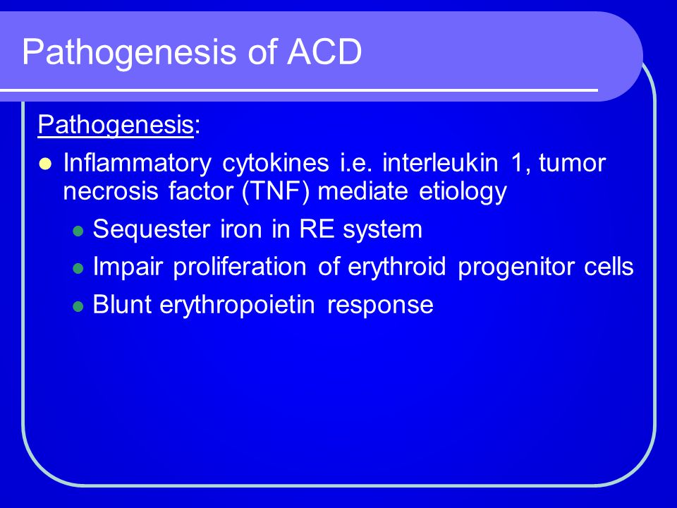Pathogenesis of ACD Pathogenesis: