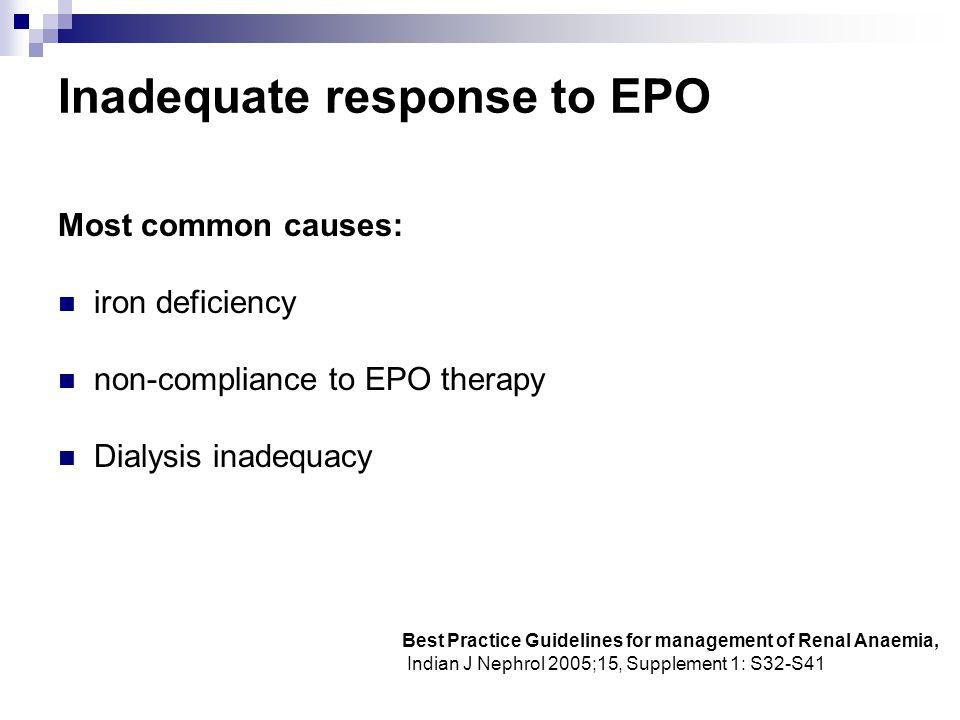 Inadequate response to EPO