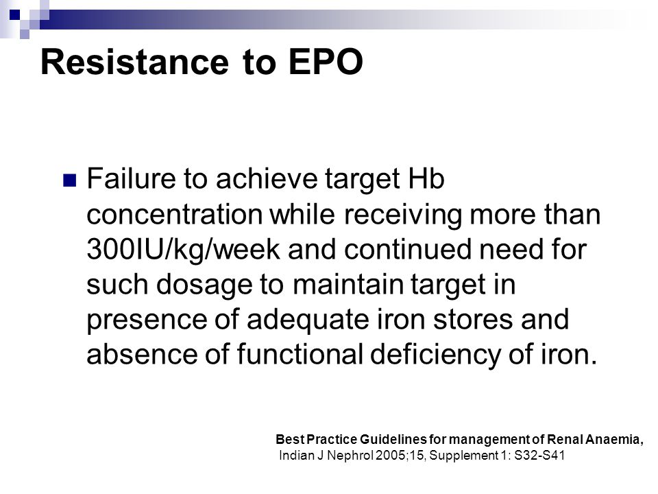 Resistance to EPO
