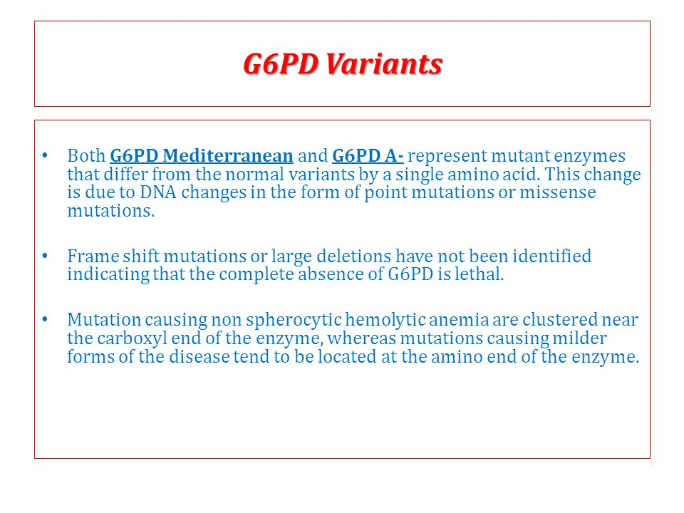 G6PD Variants