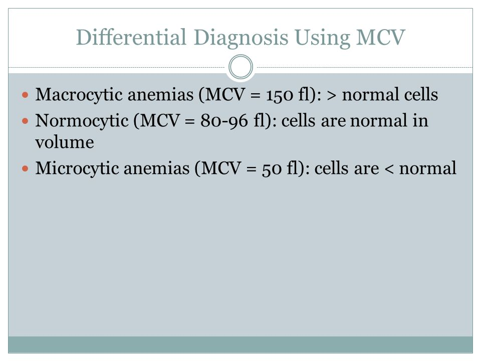 Differential Diagnosis Using MCV