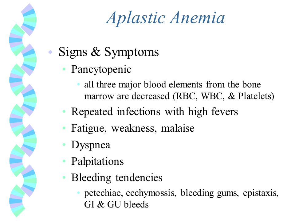 Aplastic Anemia Signs & Symptoms Pancytopenic
