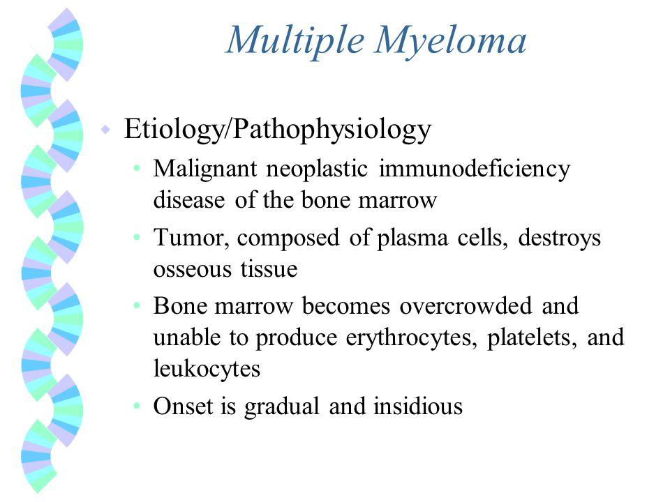 Multiple Myeloma Etiology/Pathophysiology