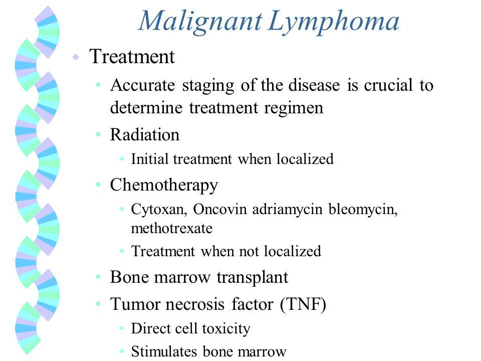Malignant Lymphoma Treatment Hodgkin's Disease
