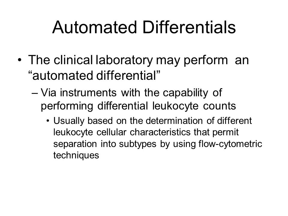 Automated Differentials