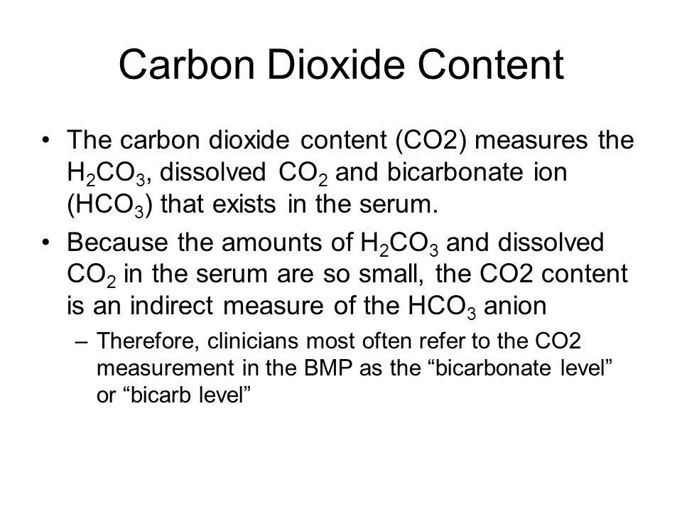 Carbon Dioxide Content