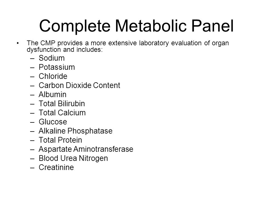 Complete Metabolic Panel