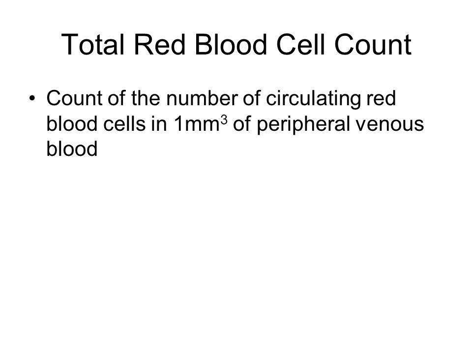 Total Red Blood Cell Count