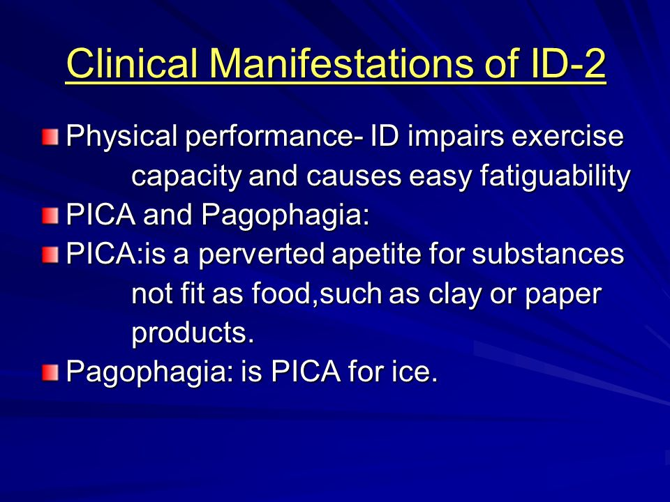 Clinical Manifestations of ID-2