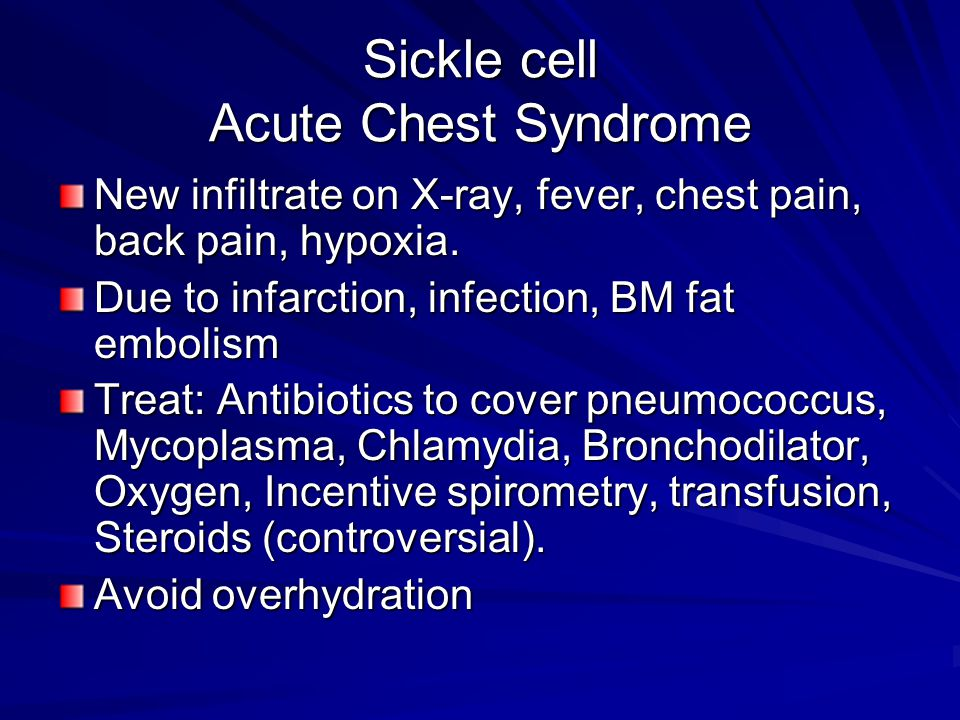 Sickle cell Acute Chest Syndrome