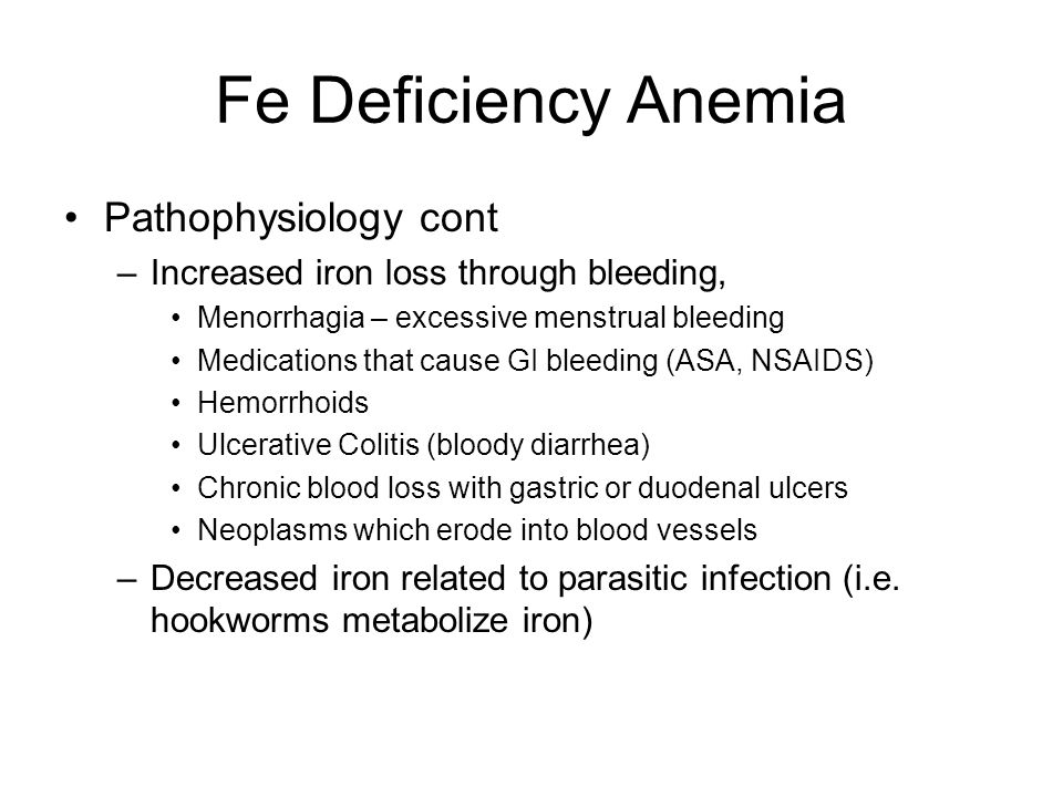 Fe Deficiency Anemia Pathophysiology cont