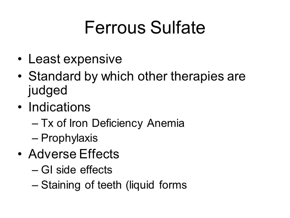 Ferrous Sulfate Least expensive