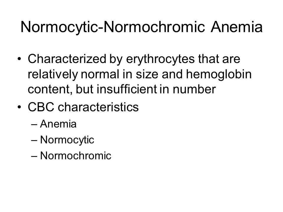 Normocytic-Normochromic Anemia