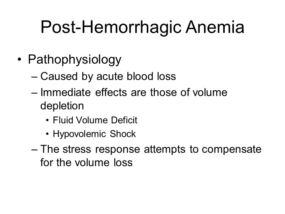 Post-Hemorrhagic Anemia