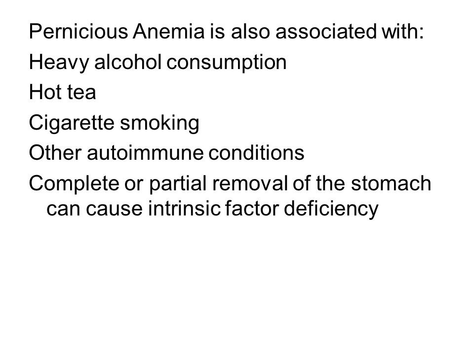 Pernicious Anemia is also associated with: