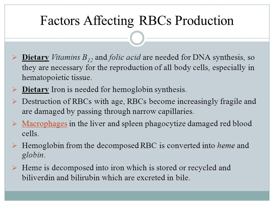 Factors Affecting RBCs Production