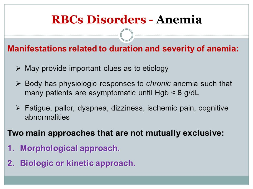 RBCs Disorders - Anemia