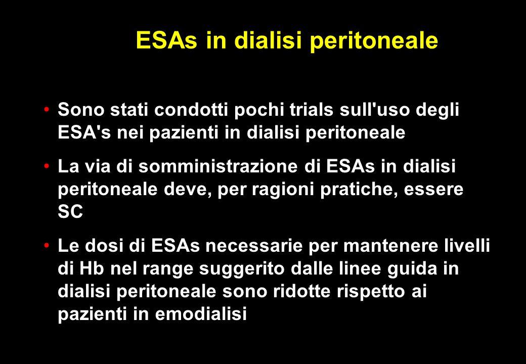 ESAs in dialisi peritoneale