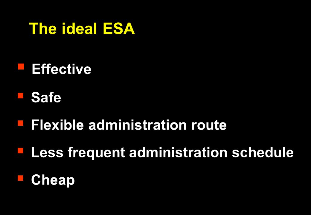 The ideal ESA Effective Safe Flexible administration route