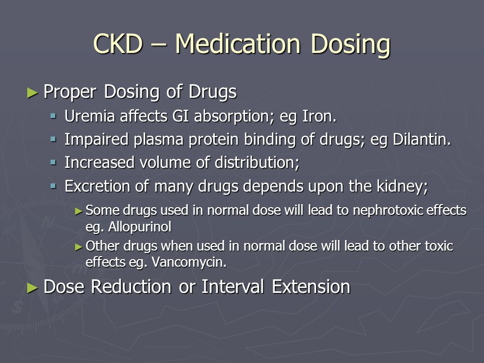 CKD – Medication Dosing