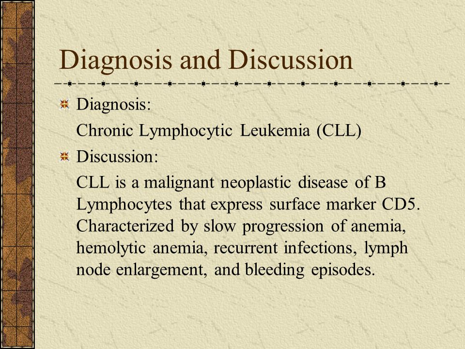Diagnosis and Discussion