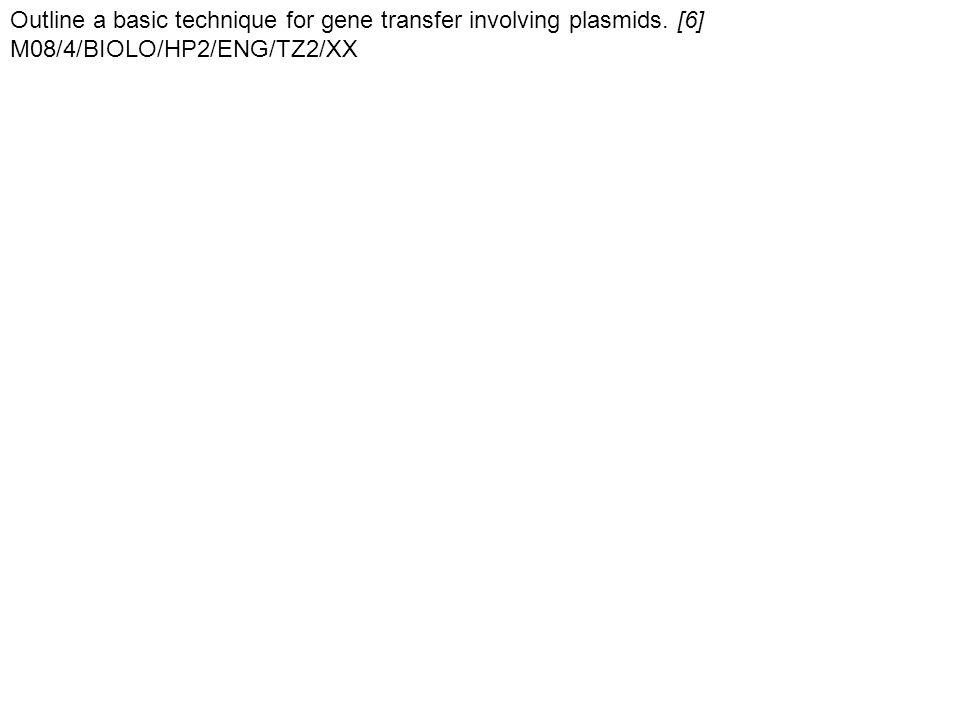 Outline a basic technique for gene transfer involving plasmids