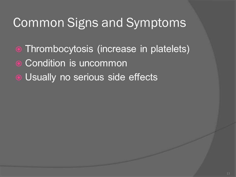 Common Signs and Symptoms
