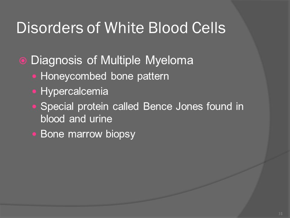 Disorders of White Blood Cells