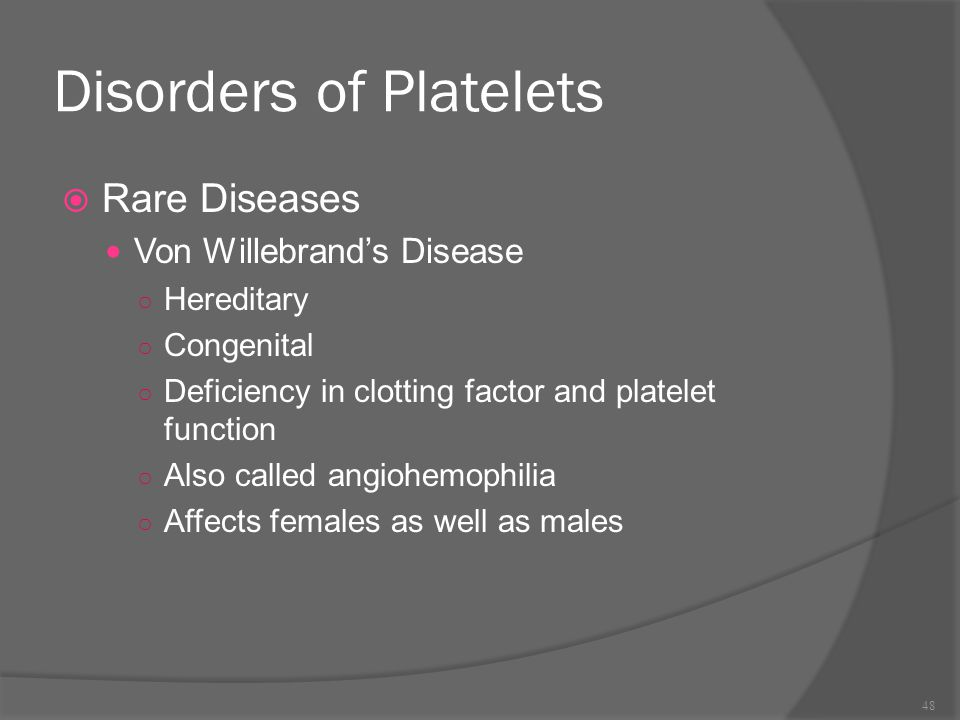 Disorders of Platelets