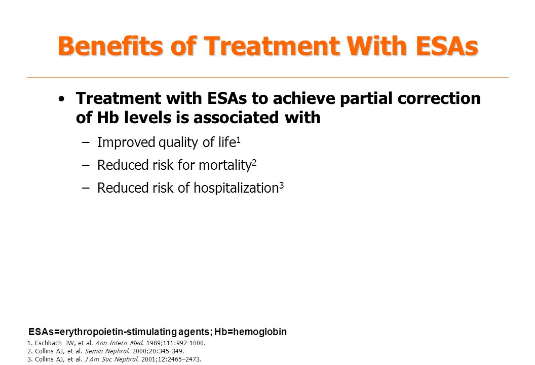 Benefits of Treatment With ESAs